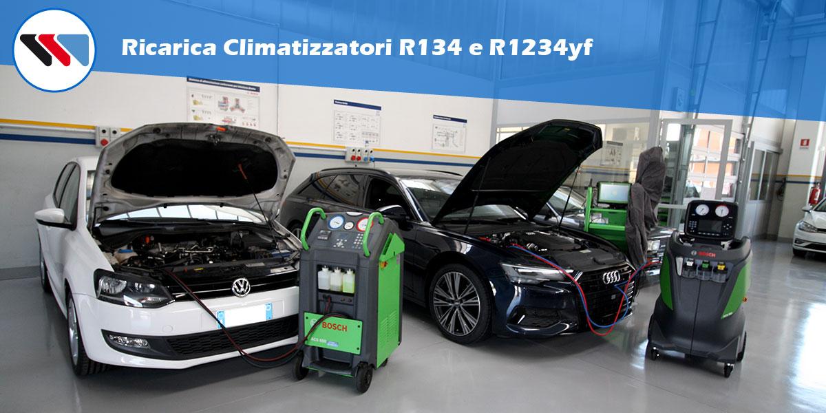 Ricariche Climatizzatori R134 R1234yf
